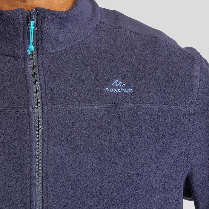 男款登山健行刷毛外套MH120-軍藍色