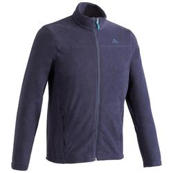 Men's Mountain Walking Fleece Jacket MH120 - Navy Blue