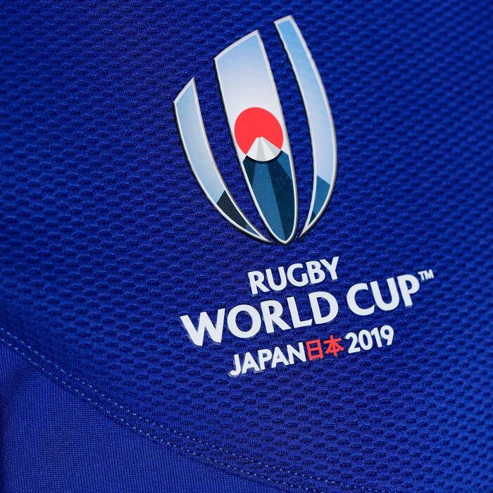 Maillot de rugby replica FFR XV de France coupe du monde adulte bleu 2019