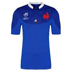 Camiseta de rugby réplica FFR XV de Francia copa del mundo júnior azul 2019