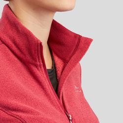 Women's Mountain Walking Fleece Jacket MH120 - Burgundy