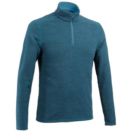 Men's Mountain Hiking Fleece Sweater MH100 - Petrol Blue
