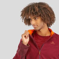 Men's Mountain Walking Fleece Jacket MH520 - Burgundy