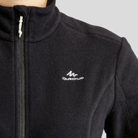 Women's Mountain Hiking Fleece Jacket MH120 - Black