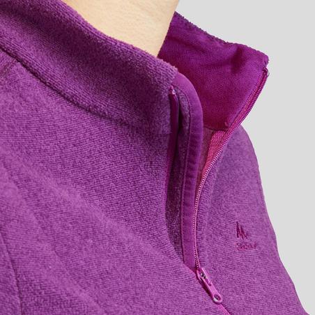 """Moteriškas kalnų žygių fliso džemperis """"MH100"""", violetinis"""