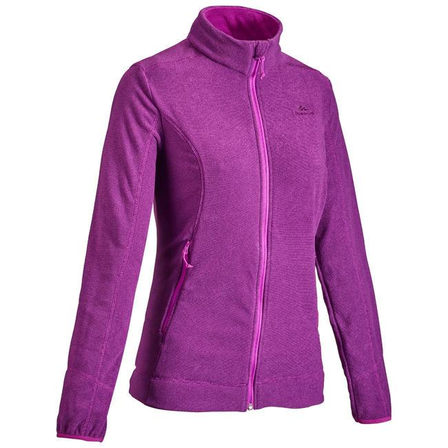 Women's Mountain Walking Fleece Jacket MH120 - Plum