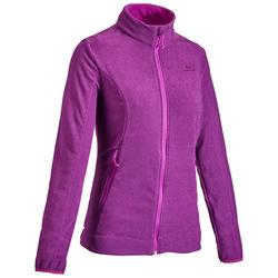 Fleece jas voor bergwandelen Dames MH120 paars