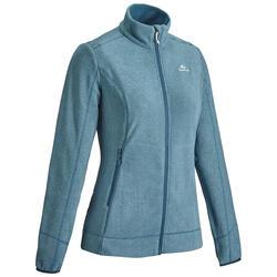 Fleece jas voor bergwandelen Dames MH120 turquoise
