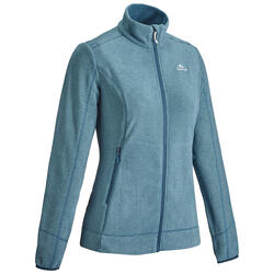 Women's Mountain Walking Fleece Jacket MH120 - Turquoise