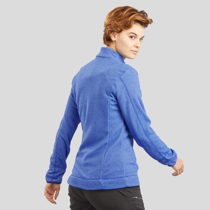 女款登山健行刷毛外套MH120-深藍色
