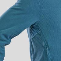 Men's Mountain Hiking Fleece Jacket MH520 - Turquoise
