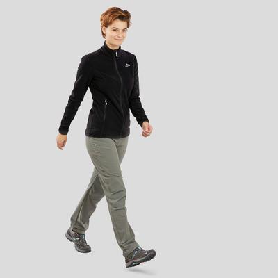Women's Mountain Walking Fleece Jacket MH120 - Black