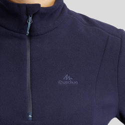 MH100 Women's Mountain Hiking Fleece Sweater - Navy