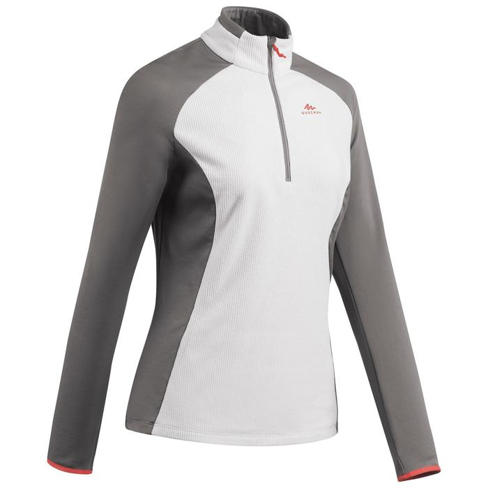 女款登山健行刷毛衣MH500-米色