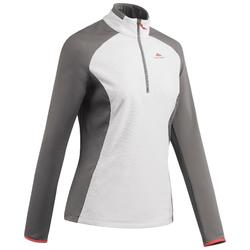 Women's mountain walking fleece MH500 - Beige