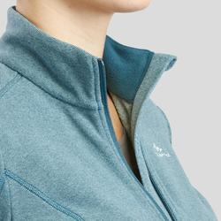 Fleece damesvest voor bergwandelen MH120 turquoise