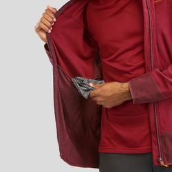 Men's Mountain Walking Fleece Jacket MH520 - Burgundy