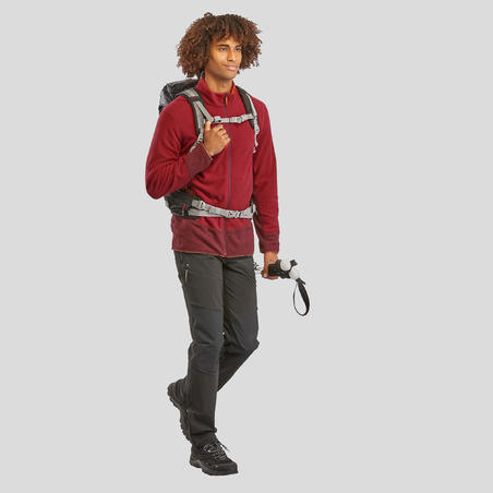 Men's Mountain Hiking Fleece MH520 - Maroon