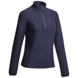 Fleecejacke Bergwandern MH100 Damen dunkelblau