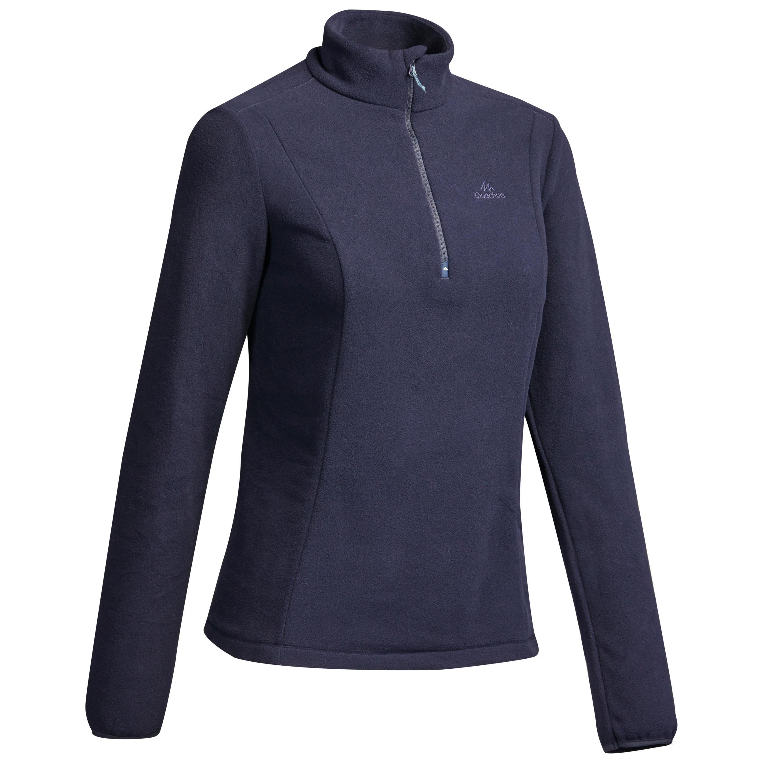 Fleecepullover Bergwandern MH100 Damen | Sportbekleidung > Fleecepullover | Quechua