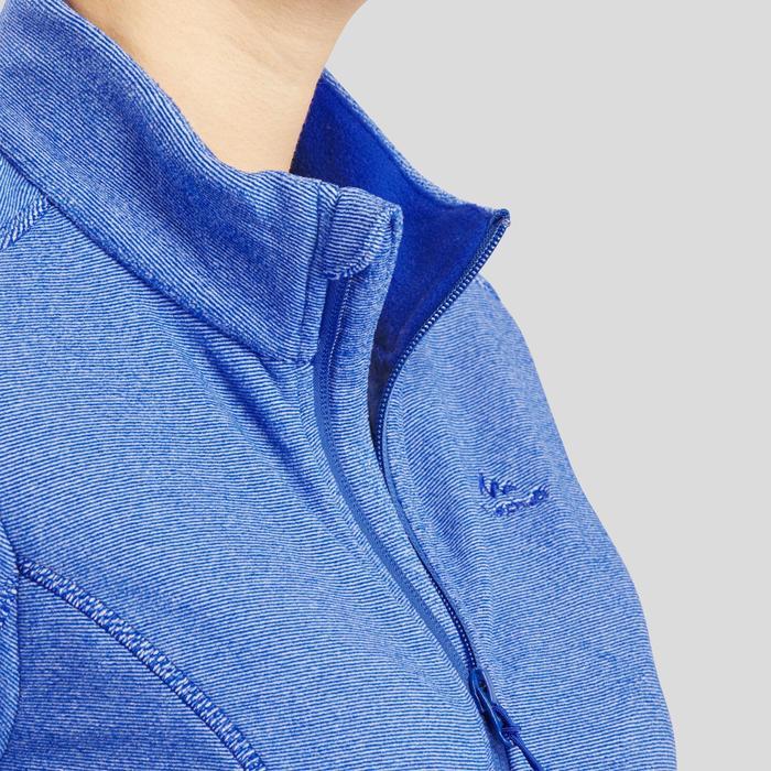 Veste polaire de randonnée montagne femme MH120 bleu foncé