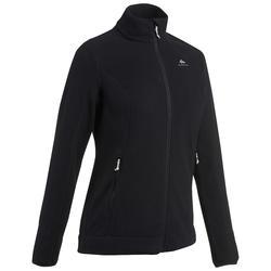 女款登山健行刷毛外套MH120-黑色