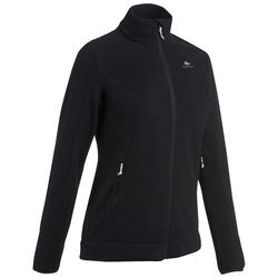 Women's Mountain Walking Fleece Jacket MH120 - Black