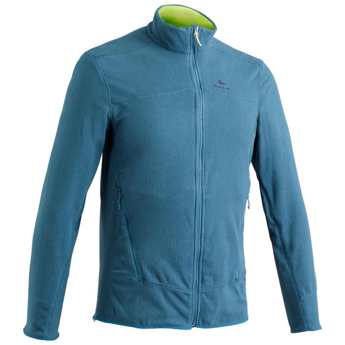 Fleece vest voor bergwandelen heren MH520 turquoise