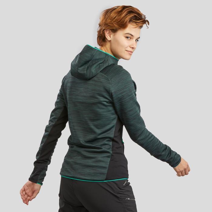 Fleece vest dames MH900 gemêleerd groen