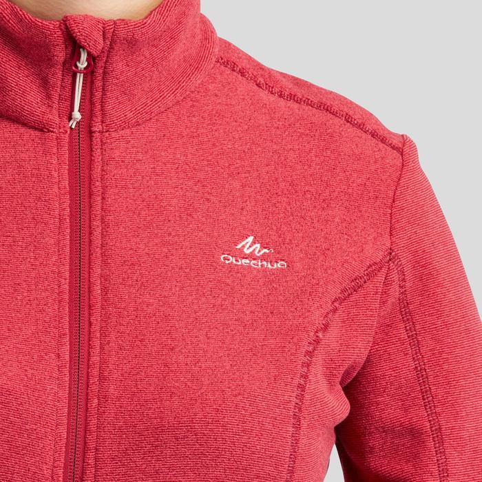 Chaqueta polar de senderismo montaña mujer MH120 rojo burdeos