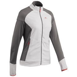 Women's Mountain Hiking Fleece Jacket MH520 - Beige