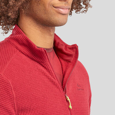 Men's Mountain Walking Fleece - MH500 - Maroon