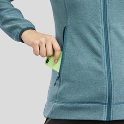 Women's Mountain Hiking Fleece Jacket MH120 - Turquoise