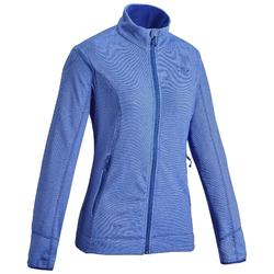 Women's Mountain Walking Fleece Jacket MH120 - Dark Blue