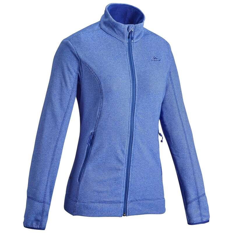 Fleece Damen Bergwandern Wandern - Fleecejacke MH120 Damen blau QUECHUA - Wanderbekleidung und Zubehör