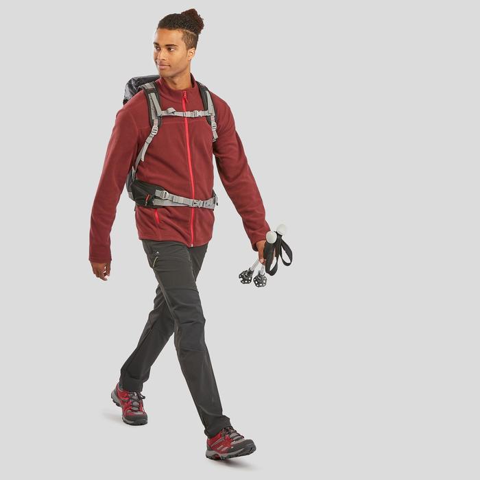 Fleece vest voor bergwandelen heren MH120 bordeaux