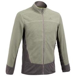 Men's Mountain Walking Fleece Jacket MH520 - Khaki