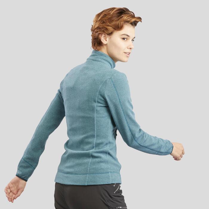 Veste Polaire de randonnée montagne femme MH120 turquoise