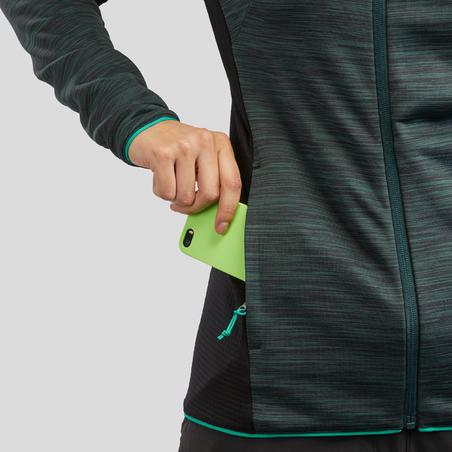 Sudadera polar de senderismo montaña mujer MH900 verde jaspeado