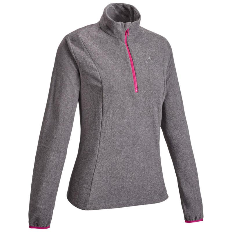 Women's mountain walking fleece MH100 Grey