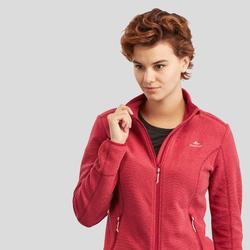 女款登山健行刷毛外套MH120-酒紅色
