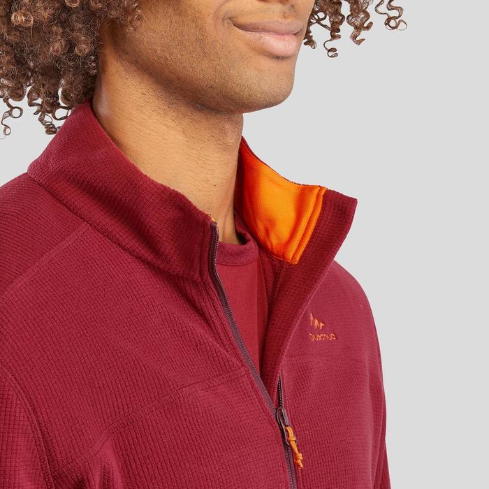 男款登山健行刷毛MH520-褐紅色