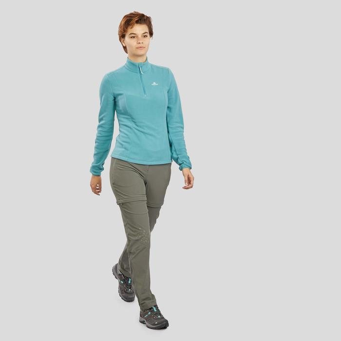 Damesfleece voor bergwandelen MH100 grijsblauw