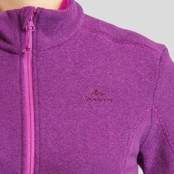 Women's Mountain Hiking Fleece Jacket MH120 - Purple