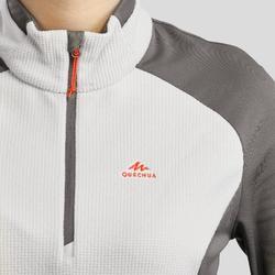Fleece voor bergwandelen Dames MH500 beige
