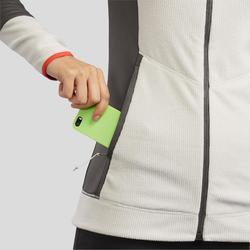 Fleece vest voor bergwandelen dames MH520 beige