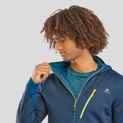 Fleece vest heren MH900 gemêleerd blauw