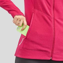 Fleece jas voor bergwandelen dames MH520 frambozenrood