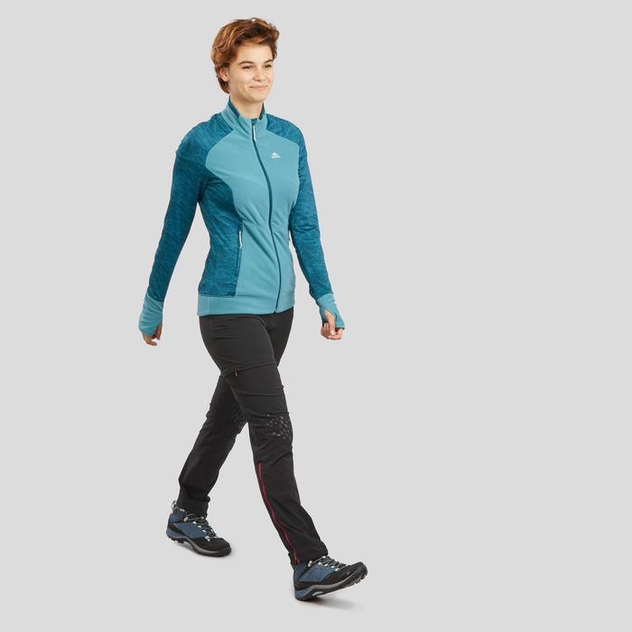 女款登山健行刷毛外套MH120-藍色