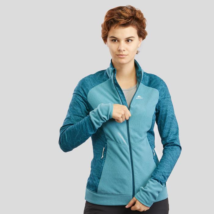 Fleece jas voor bergwandelen Dames MH520 turquoise
